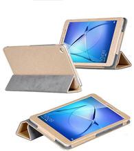 T3 jiloteo PU Cubierta de Cuero Del Caso Del Tirón para Huawei MediaPad 8 8.0 KOB-L09 KOB-W09 Honor Juego Pad 2 Tablet Clear Protector de Pantalla