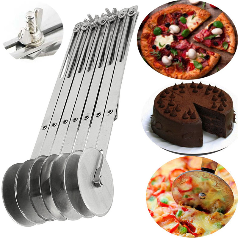 Pizza Tools Pasta font b Knife b font Stainless Steel 304 Adjustable Bakeware Flexible Pastry Cutter