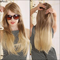 70cm Blonde Ombre Wig Long Straight Cheap Women Synthetic Wig Fashion Natural Hair Women's Brown Wigs For White Women Pelucas