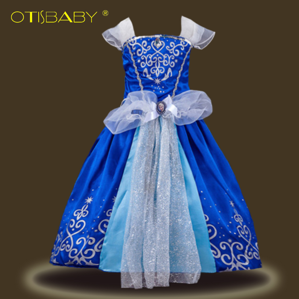 Christmas Aurora Sofia Cinderella Rapunzel Belle Snow White Princess Dresses for Girls Kids Cosplay Costumes for Carnival Party princesses toys snow white merida rapunzel belle tiana ariel jasmine mulan pvc figures gifts for girl 11pcs set