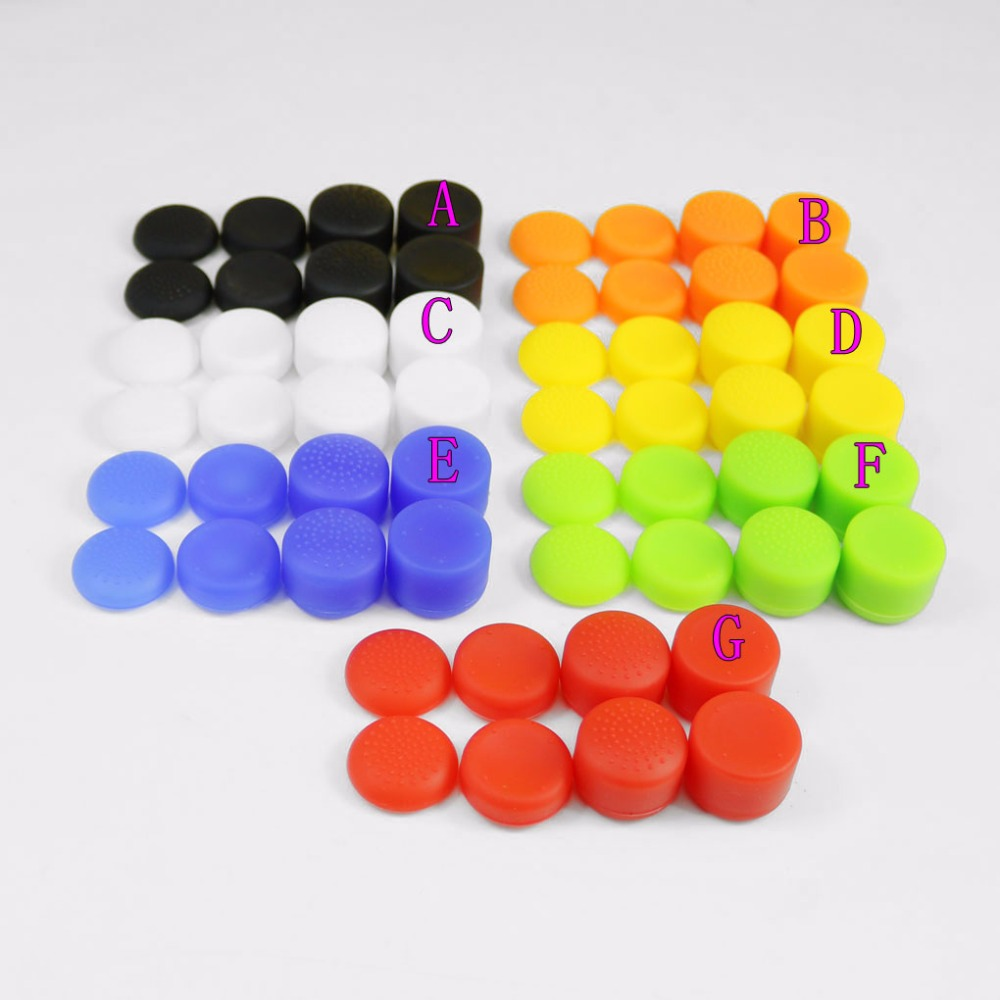 20sets For PS4 Pro Slim Lever Extended Silicone Thumb Grip Cap for PS4 Controller Silicon Joysticks Extender Grips