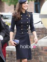 2018 New Designer Women Wool Coat Kate Middleton Double Breasted Long Sleeve Coat J019