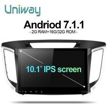 Aix251071 uniway 8 core Android 7.1 автомобильный DVD для Hyundai creta ix25 2014 2015 2016 автомобилей Радио gps-навигация