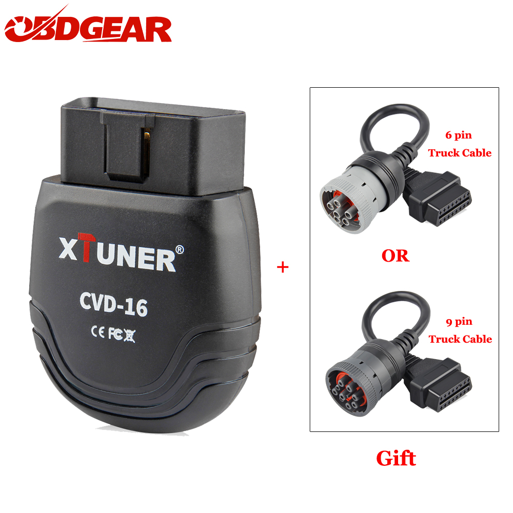 XTUNER Professional Heavy Duty Light Duty Car Auto Diagnostic Tool Bluetooth EOBD OBD2 Scanner CVD 16