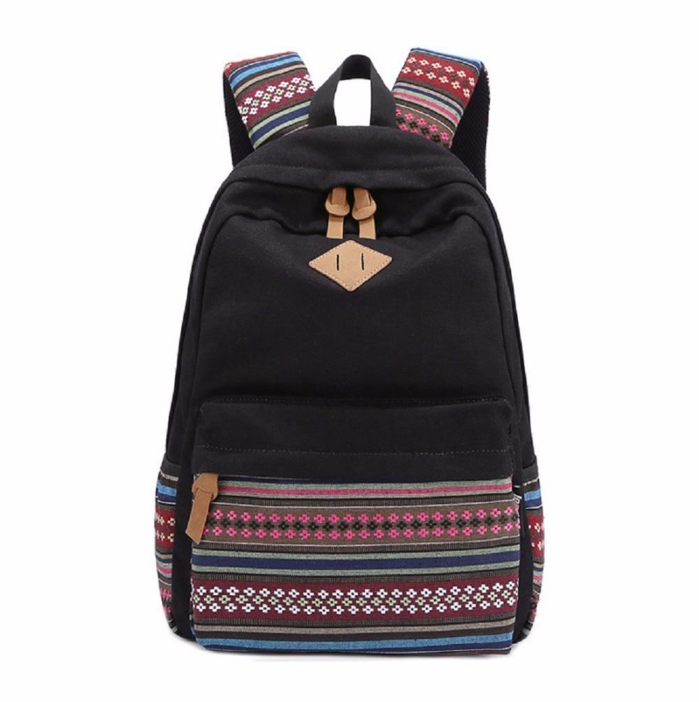 Korean style women bookbags canvas printing bagpack cute school bags backpacks for teenage girls mochila escolar