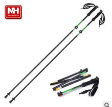 Nature Hike 34-135cm Ultra-light EVA straight grip handle aluminum adjustable canes walking hiking sticks trekking pole outdoor