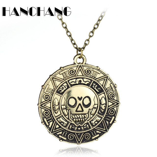 a1128a7ffc14 Piratas del Caribe collar Jack Sparrow moneda colgante collar vintage accesorios  Collar para hombres mujeres joyería