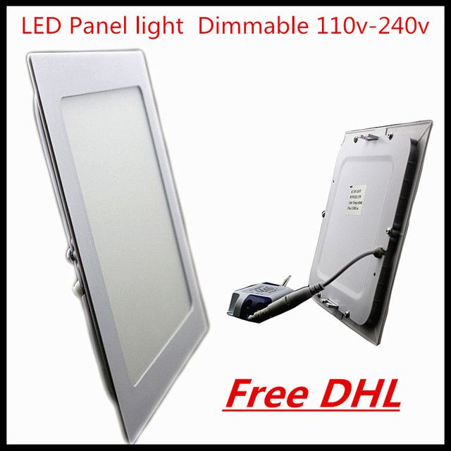 DHL Led Panel Downlight 3W 4W 6W 9W 12W 15W 18W 24W lampada Square/Round LED Ceiling Recessed Light AC85-265V SMD2835 led driver
