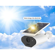 2.0MP Solar Powered IP Camera 1080P Outdoor Waterproof CCTV Security WiFi Cam Rechargeable Battery Support Alexa Google Home
