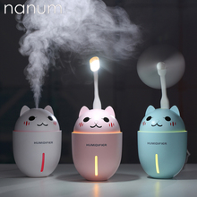 3 in 1 Aroma Essential Oil Diffuser Ultrasonic Adorable Pet Humidifier Air Purifier LED Night Light USB Fan Car air freshener цены онлайн