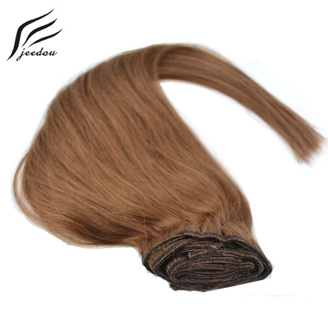 Jeedou Straight Synthetic Clip In Hair Extensions 16inch 40cm 8pcs