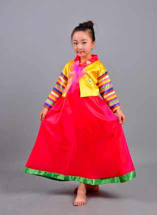 353188030f5f National Photographic hanbok dress child Korean girls dance clothing ...