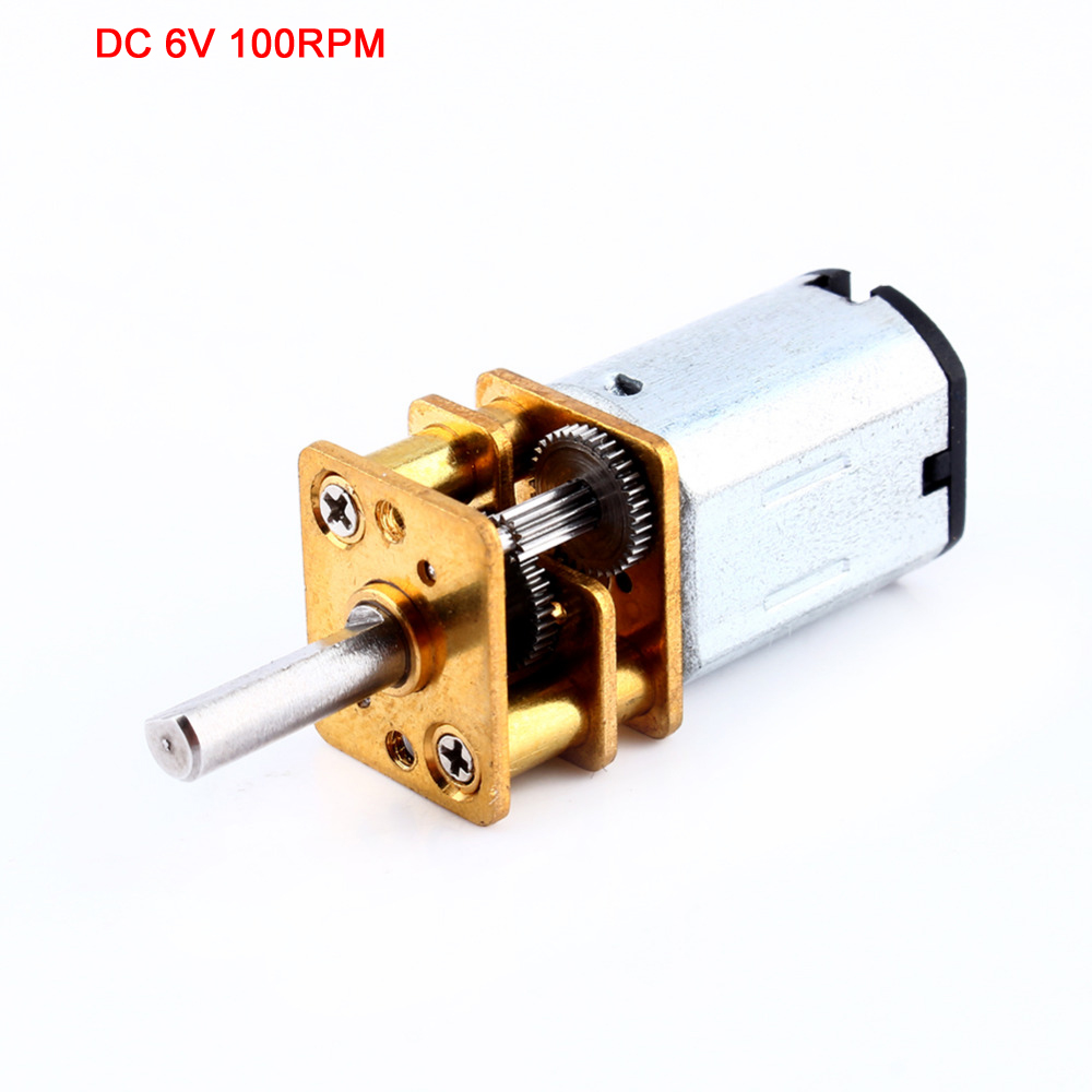 Fanjin Store 12GA DC 6V 100RPM Miniature Electric Reduction Gear Motor Metal Gearbox for RC Robot Model Toy DIY engine Camera Motor