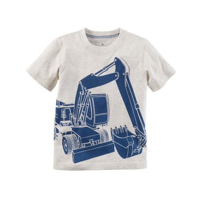 c68931aabdfe Hooyi 2018 Digger Boys Clothes Shirts Kids T-Shirts Baby Boys Tee Shirts  Summer Kid Shirt Top 100% Cotton 6 9 12 18 24 Month