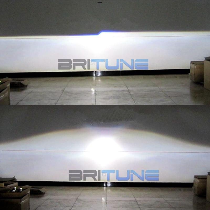 2.5 ''carré double CCFL Angel Eyes H1 HID bi-xénon projecteur lentille feux de jour pour H4 H7 voitures Auto phare modification - 6
