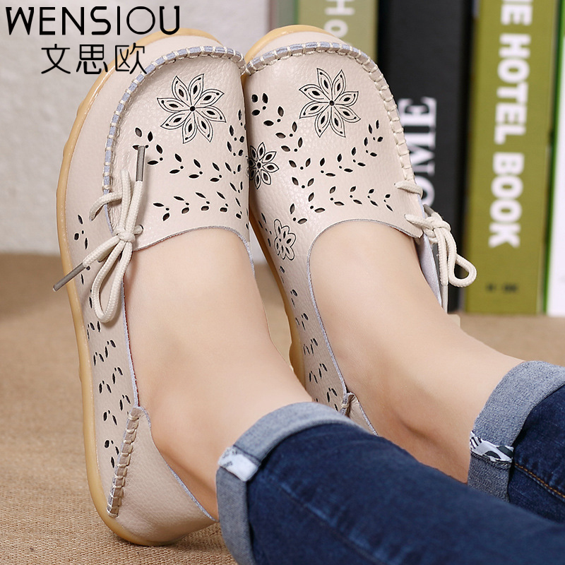 Spring women flats hollow out comfortable loafers women shoes female casual shoes chaussure femme Slip on