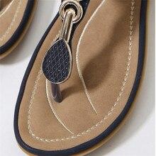 TIMETANG Summer New Bohemia Wedge Women Sandals Rhinestone Woman Flip Flops Vintage Women Shoes Beach