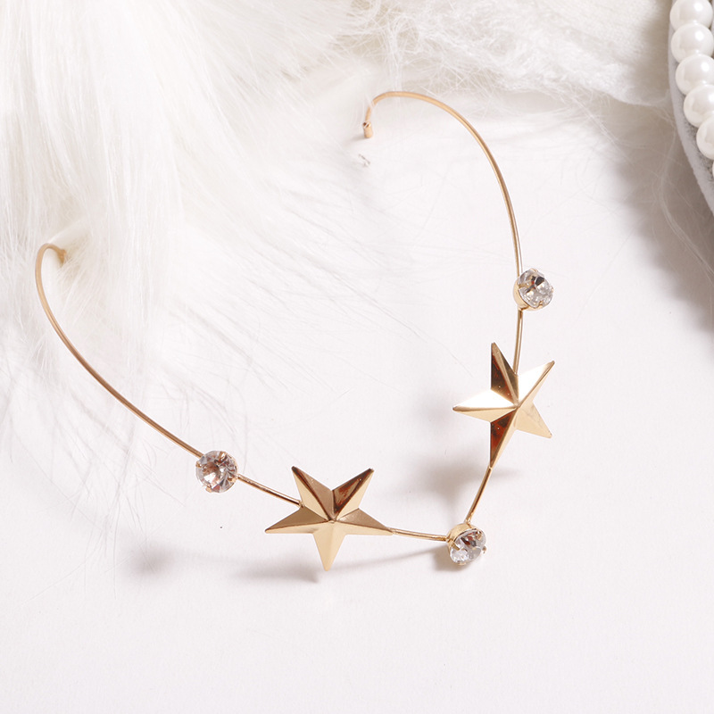1PC New Arrival Fashion Headbands For Women Crystal Alloy Hairbands Back Holder Headwear Girls Lovely Hair Band Hair Accessories 7
