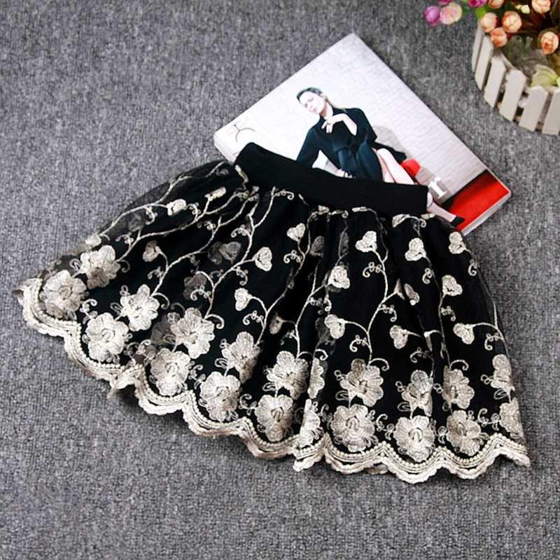 2019 Neue Sommer Mode Röcke 2-6 Jahre Mädchen Röcke Spitze Röcke Kind Blume Röcke