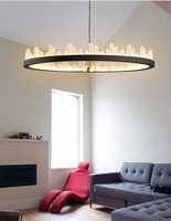 Phube Lighting Modern LED Pendant Light Creative Imitation Glacier Pendant Light Bar Restaunt Living Room Lighting