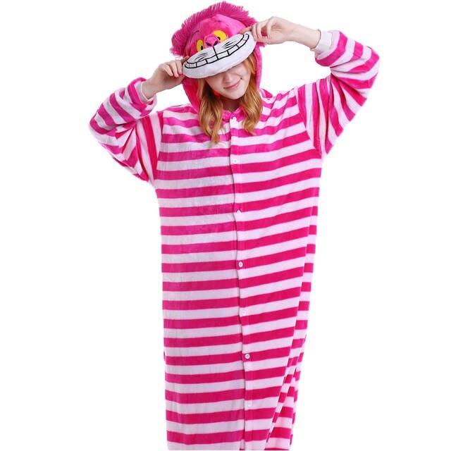 a6e5dfd08945 placeholder Winter Flannel Pyjamas Women Cosplay Cheshire Cat Pajamas  Costume Cartoon Homewear Onesie Adult Animal Warm pyjama