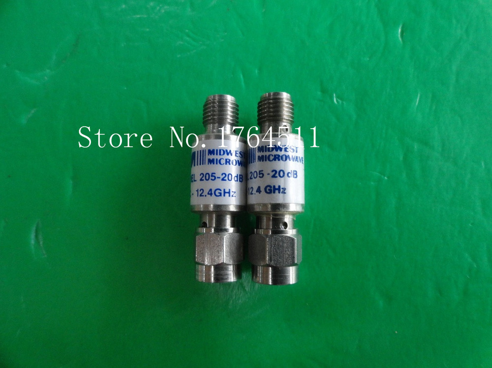 [BELLA] MIDWEST 205-20dB DC-12.4GHz Att:20dB P:2W SMA Coaxial Fixed Attenuator  --3PCS/LOT