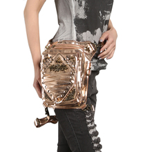 Steampunk Women Waist Bags Fashion Leg Bag Shoulder Bag Retro Rock Luxury Cross Body Bags Leather Phone Case Holder 2017