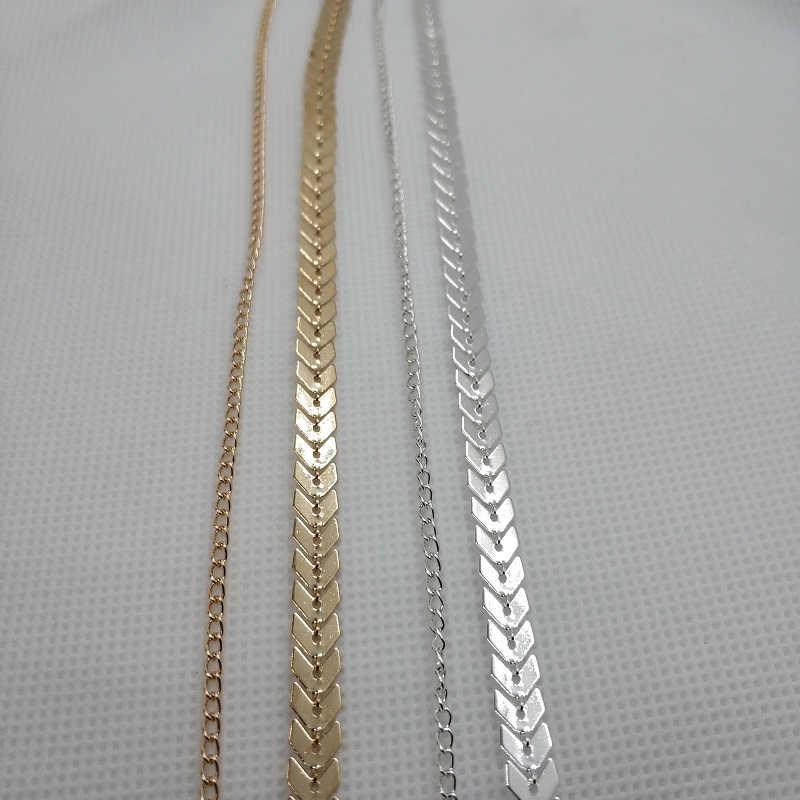 זהב רב חץ קולר שרשרת נשים שתי שכבות שרשראות Collares אדרה מטוס שרשרת שטוחה שרשרת Chocker על צוואר תכשיט