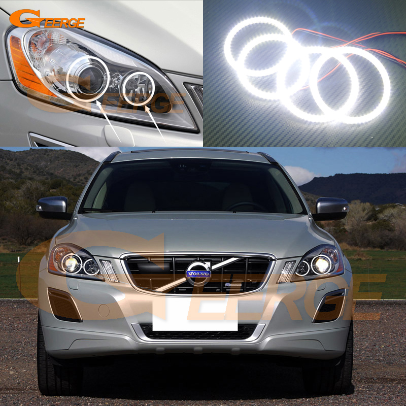 For Volvo XC60 2009 2010 2011 2012 2013 XENON HEADLIGHT Excellent Angel Eyes Ultra bright illumination smd led angel eyes kit for mazda 3 mazda3 bl sp25 mps 2009 2010 2011 2012 2013 excellent ultra bright illumination ccfl angel eyes kit