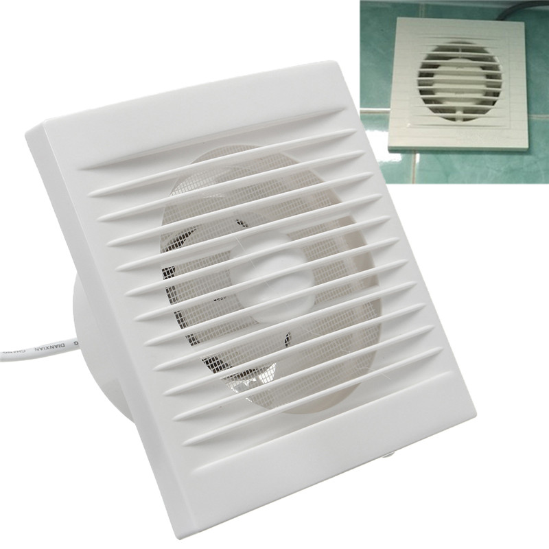 220V Hanging Wall White Ventilador Small Ventilator Extractor Exhaust Fans Toilet Bathroom Kitchen Fan Hole Size 110x110mm 40W