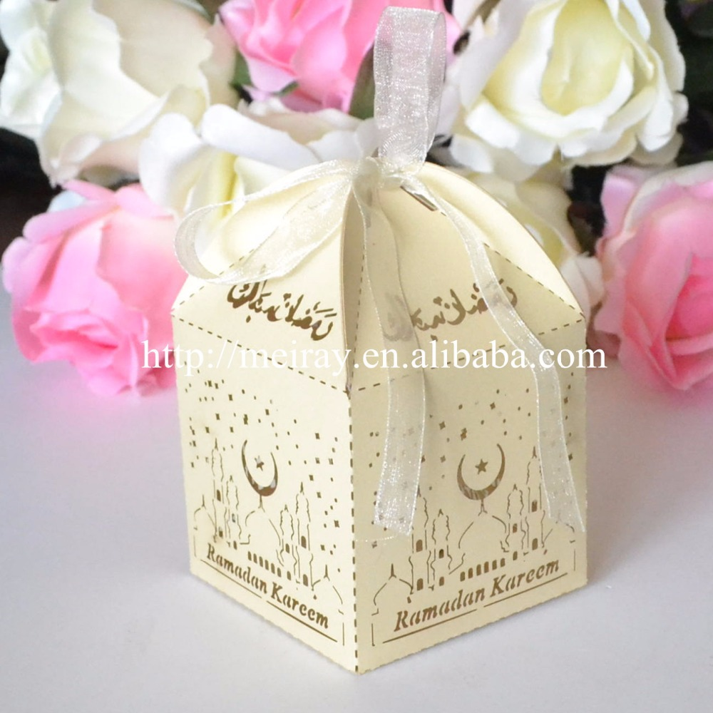 Muslim Eid decoration laser cut islamic favors,paper cake decoration ...