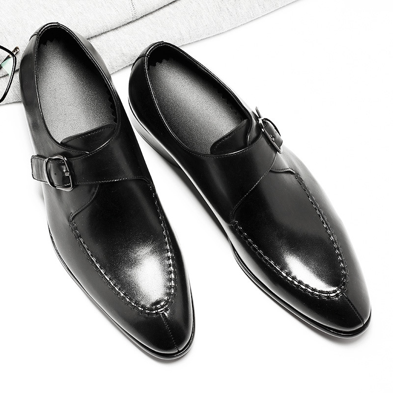 Men's Genuine Leather Shoes Business Dress Formal Shoes Men England Fashion Loafers Oxfords Size 37-44 Factory Direct Wholesale