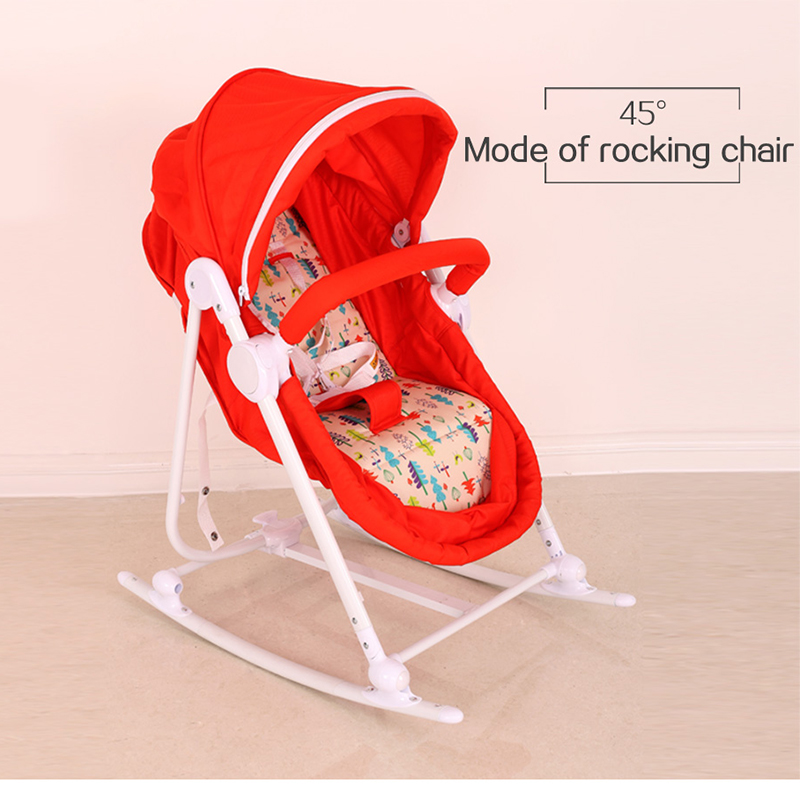 Wonderkids Multifunction Baby Rocking Chair Portable Eat Chair With Netting  Music Box Folding Rocking Cot Five Point Harness  In Baby Cribs From Mother  ...