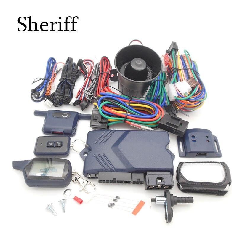 Versão rússia sistema de alarme de carro com motor de arranque remoto para starline A91Two-way A91 A91 2-way sistema de alarme de carro frete grátis