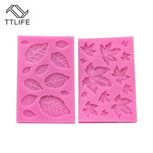TTLIFE 2 Style Maple Leaf Silicone Mold Leaves Fondant Cake Pastry Decorating DIY Tools Chocolate Gumpaste Dessert Baking Moulds silicone butterfly style baking mold dessert pastry decorating tools