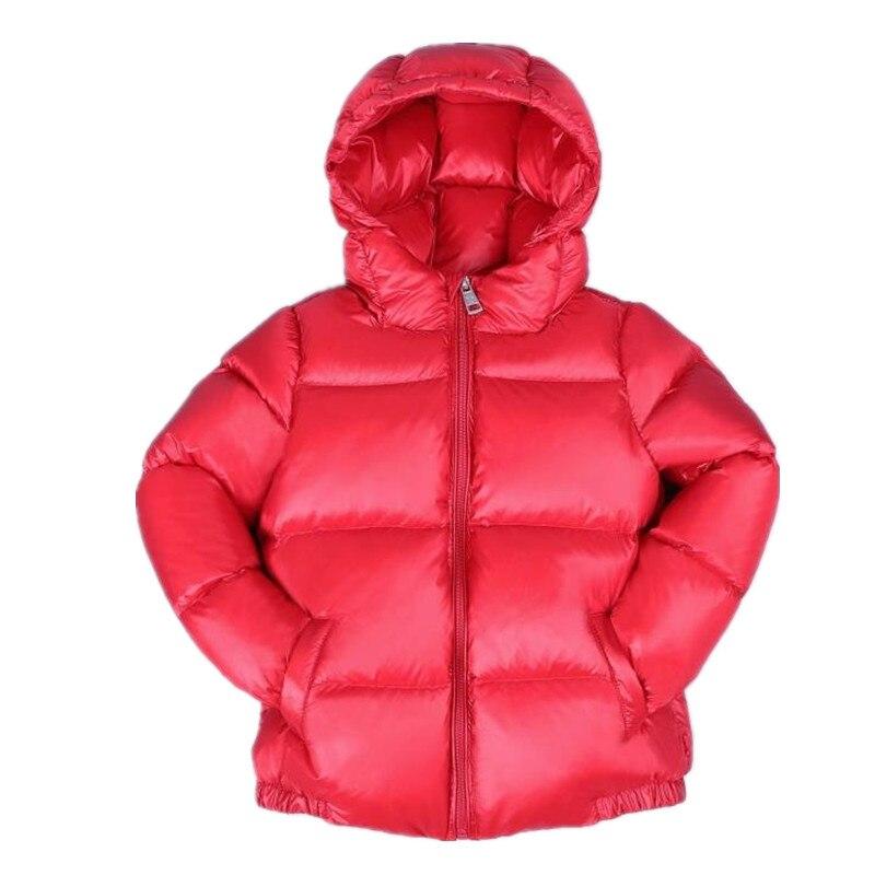 2018 дата 2-под ultra light для маленьких девочек куртка-пуховик вниз по 90% Горячая весна, осенне-зимнее пальто с капюшоном детская одежда