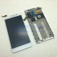 For Lenovo S850 S850T Touch Screen Panel Digitizer Sensor + LCD Display Monitor Panel Module Assembly With Frame + Free Tools
