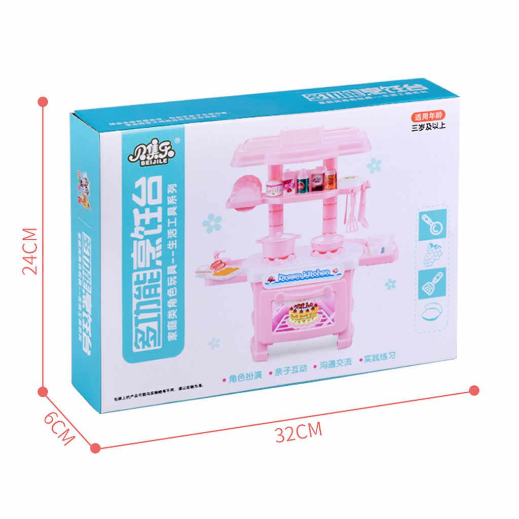 Mini Educacional das crianças Brinquedos de Cozinha Rosa Aparelhos Domésticos Crianças Jogo de Cozinha Para As Crianças Meninas Brinquedo Dropshipping 6.5