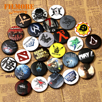 29 tipos CSGO Pin DOTA botones insignias Skyrim broches escuela mochila distintiva AC juego colección gran regalo para mujeres y hombres Fans