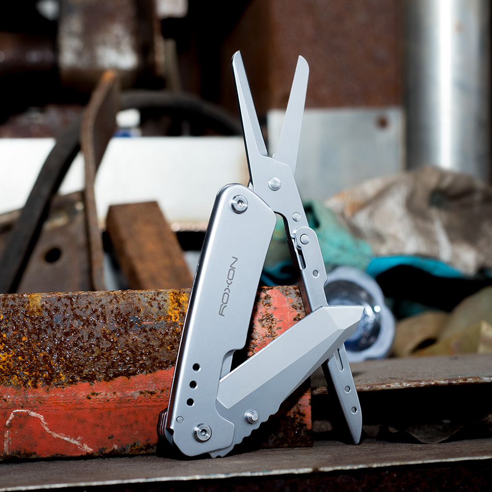 Outdoor Survival Folding Knife Scissors Camping Hiking EDC Multi Tools Roxon Brand New Design Survive Knives