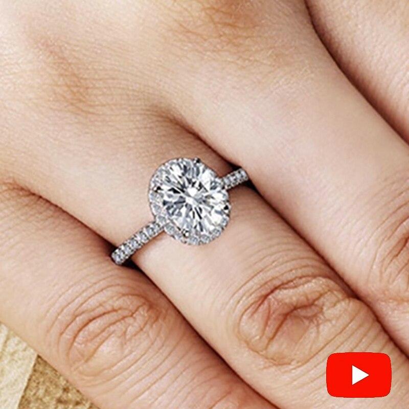 Sona NOT FAKE Fine Engraving Ring S925 Sterling silver Diamond Custom ring Original Design 925 oval