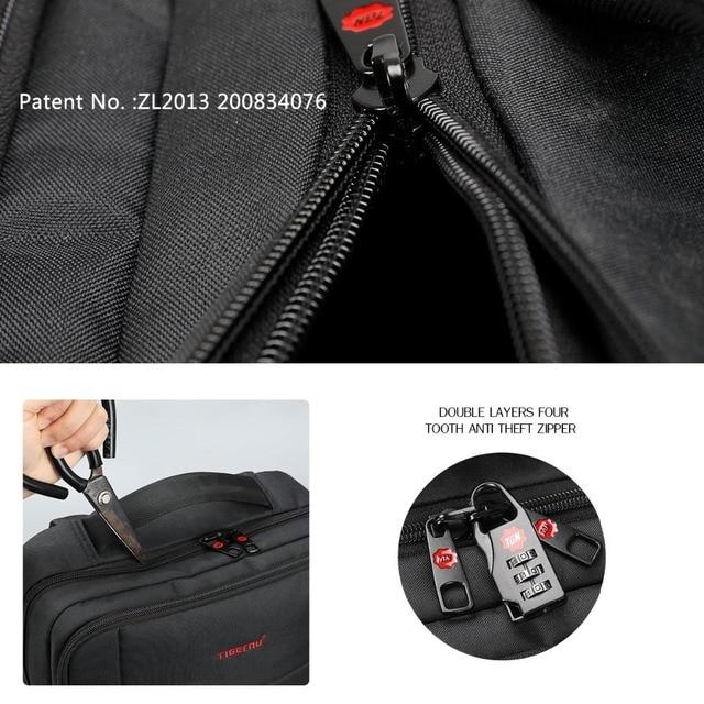 Tigernu USB Charger15.6 inch Laptop Backpack Women Men Slim Laptop Backpacks Bags Men Casual Daily School Bag for Teenagers 4
