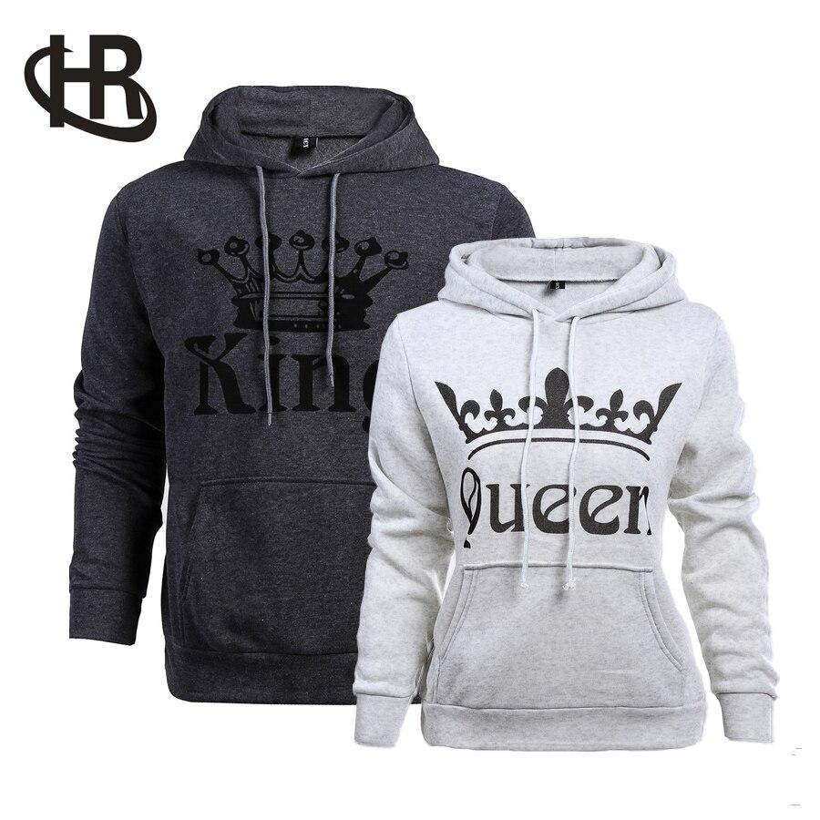 H&R King and Queen Lover Hoodie Jumper  Tops Sweatshirts Tee multi colors New