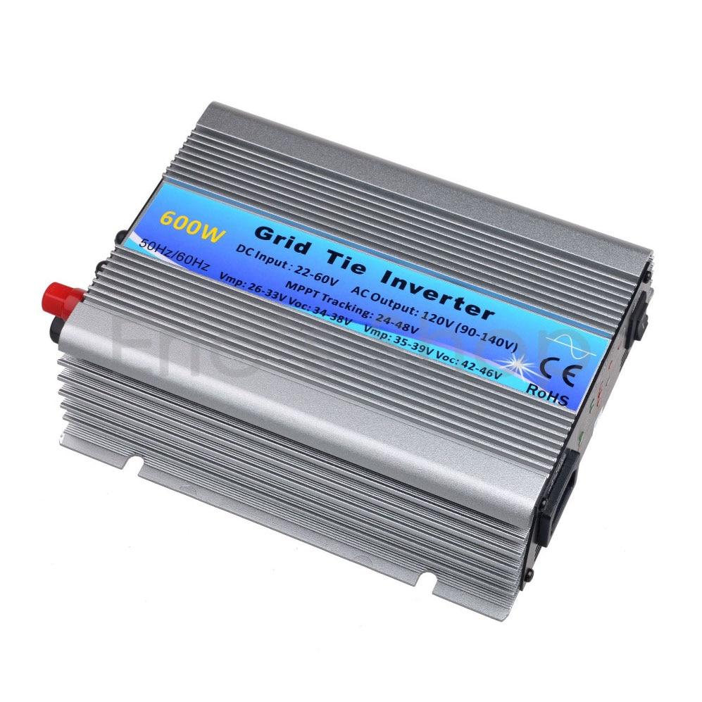 500W  Solar Inverter  Grid Tie Inverter DC22V-60V to AC120V(90-140VAC) Pure Sine Wave Inverter  50Hz/60Hz(Auto control) CE 400w grid tie inverter dc22v 60v to ac230v 190 260vac pure sine wave inverter 400w 50hz 60hz auto control ce dc to ac inverter