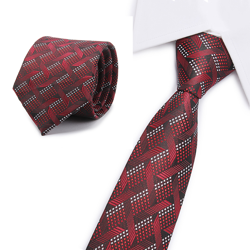 Newest Style Hot Paisley Tie For Mens 100% Silk Neckties Designers Fashion Men Ties 8cm Navy And Red Striped Tie Wedding Party