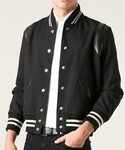 Aliexpress.com : Buy Men fashion Black teddy varsity bomber jacket ...