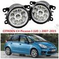 Para CITROEN C4 Picasso (UD) 2006-2015 para el parachoques delantero alto brillo LED faros antiniebla FAROS ANTINIEBLA Car styling 1 Unidades 620639