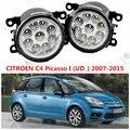 for CITROEN C4 Picasso (UD) 2006-2015 for front bumper high brightness LED Fog lights FOG LAMPS Car styling 1set 620639