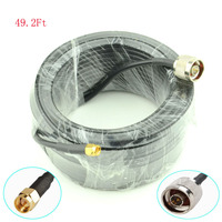 15 Meter 49 2 Ft Low Loss SMA Male To N Male Extension RG58 Coaxial Cable