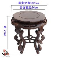 Black Catalpa Wood Vases Flower Miniascape Of Base Solid Wood Carving Household Act The Role Ofing